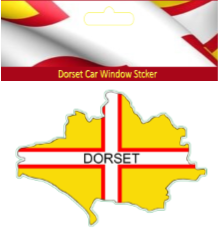 Dorset Flag Car Sticker
